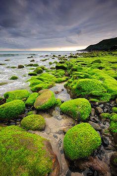 SunvilAzores: Seaside with lava rocks at Praia Formosa. Santa Maria, Azores islands