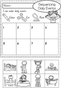 Visual Think Sheet- Behavior Reflection Sequencing Worksheets, Sequencing Cards, Daily Routine Worksheet, Think Sheet, Behavior Reflection, Sequence Of Events, English Worksheets For Kids, 2 Kind, Free To Use Images