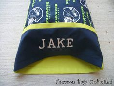 Look at this amazing pillowcase using our Collegiate Embroidery Font!! This…