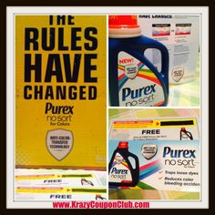 ****Review: Purex No Sort Laundry Detergent & Giveaway - Win One FREE Product Coupon - TWO Winners!!**** - Krazy Coupon Club