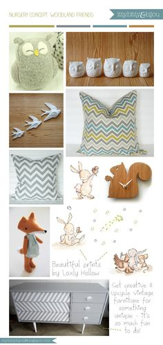 Woodland Friends nursery decor ideas and inspirations by Itty Bitty Bijou ~ classy woodland creatures and gender neutral - love