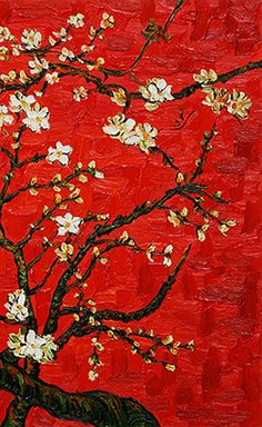 "Vincent van Gogh - From 'Almond Blossoms' Series practice makes perfect, I cannot but make progress; each drawing one makes, each study one paints, is a step forward."" (Letter to Theo van Gogh, October Art Van, Vincent Van Gogh, Van Gogh Arte, Van Gogh Pinturas, Almond Blossom, Van Gogh Paintings, Paintings Famous, Post Impressionism, Fine Art"
