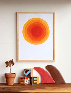 Yellow Sun by Jeff Canham | GREENROOM Hawaii $300.  I would love to have this in my bedroom for my rise and shine wall, maybe in a mock print so it's not so pricy.