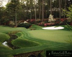 The 13th. Risk and reward. Augusta National Golf Club I want to go and golf here it would be amazing to go here
