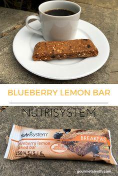 Nutrisystem Blueberry Lemon Bar #nutrisystem #gourmetsleuth #mynutrisystemjourney