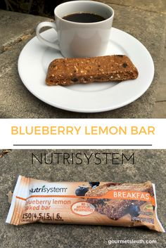 Nutrisystem Blueberry Lemon Bar #nutrisystem #gourmetsleuth #mynutrisystemjourney