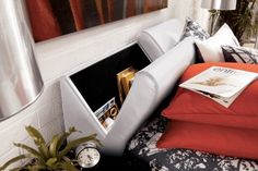Bardini Jansey Queen Upholstered Storage Headboard Only in White