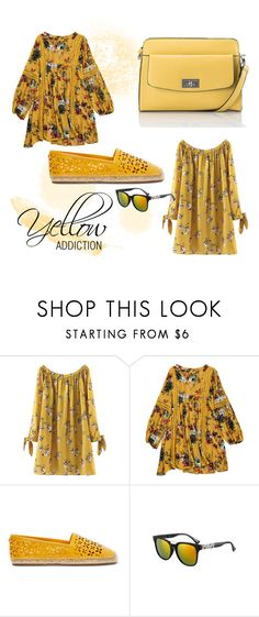 """""""Yellow Addiction"""" by rachel-lavieenrose ❤ liked on Polyvore featuring Bandolera and MICHAEL Michael Kors"""