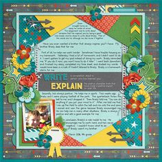 on this scrapbook layout, the story takes center stage and is an integral part of the page design
