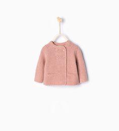 ZARA - KIDS - Double breasted knit cardigan