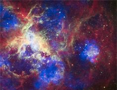 The Hubble Space Telescope has been in orbit for 22 years today, and to celebrate, NASA has released this awesome image of the Tarantula Nebula, also known by its less romantic scientific name of 30 Doradus.
