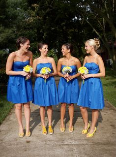 WVU wedding  If I ever get married again, this is soooooo what I'm gonna do my wedding in! What could be better or more special than the gold and the blue?