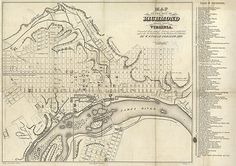 1859 Map of the City of Richmond - Print $30.00