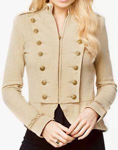 Denim-Supply-Ralph-Lauren-Women-Military-Army-Officer-Band-Coat-Jacket-XS