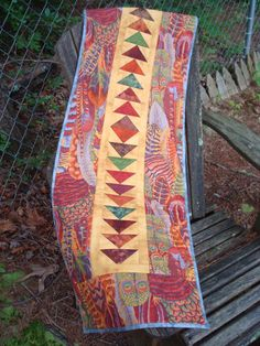 Fall Feathered Table Runner by Jackiesewingstudio on Etsy, $47.00 #etsy #handmade #thehotbobbin