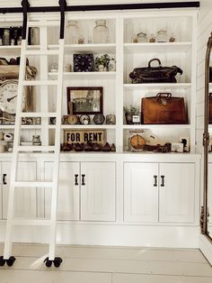 Home Accessories Design Built Ins – Office BuiltIns Farmhouse Office Makeover…. – Home office design layout Office Built Ins, Office Bookshelves, Office Shelf, Built In Bookcase, Shared Office, Bookcases, Loft Office, Bookcase Styling, Bookcase Shelves