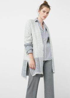 Cardigan texture cotone - Cardigan e pullover da Donna | MANGO Italia