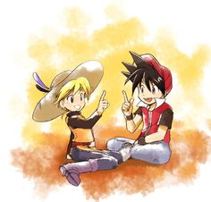 Pokespe trainers Red and Yellow Pokemon Human Characters, Pokemon Manga, Pokemon Oc, Pokemon Ships, Pokemon Trainer Red, Pokemon Couples, Pokemon Special, Pokemon Pictures, Digimon