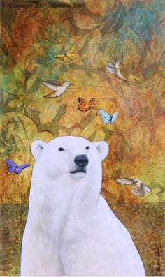 "Originally found on Blogger, Polar Bear Dreams. ""Art with Intention TM"" by Montana Black"