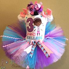 Lavender Pink Doc McStuffins Girls Birthday Tutu Outfit
