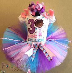 Lavender Pink Doc McStuffins Girls Birthday Tutu Outfit