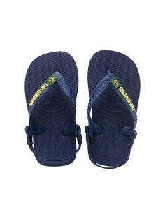 Flip-flops - Baby Brasil Logo Navy Blue/Yellow http://www.brazilianbikinishop.com/en/flip-flops-baby-brasil-logo-navy-blue-yellow-13125.html