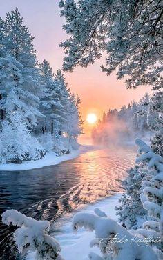 Winter sunset.. Finland