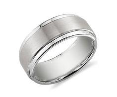Men's White Tungsten Carbide Ring