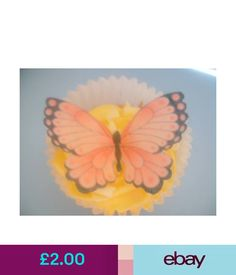 Pink And Black Edible Butterflies Baking Accs. & Cake Decorating Kitchen, Dining & Bar