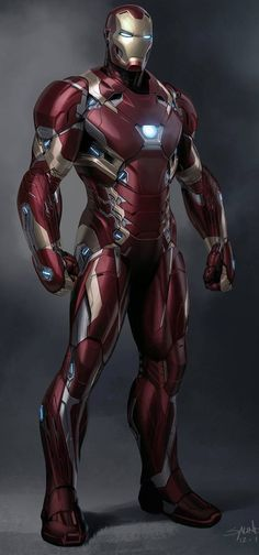 Iron Man Mark XLVI by Phil Saunders