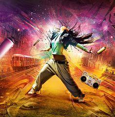 Dazzling Digital Artwork by IK-YD - My Modern Metropolis Dance Art, Dance Music, Jazz Dance, Dj Music, Urban Dance, Mode Hip Hop, Foto Fantasy, Modern Metropolis, Dance Poses