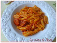 La cocina de Angie: MACARRONES CON CHORIZO (Olla GM)