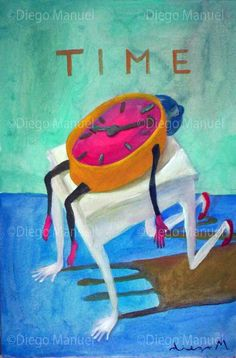 """Time"", acrylic on canvas, 30 x 45 cm., year 2005 Price of original painting us$200"