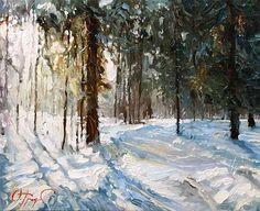 Winter Painting by Oleg Trofimoff, Russin Artist