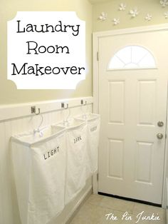 DIY : laundry room idea! separate the lights and darks and colors.