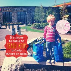 It's never too early to teach kids about giving @Jess Liu {And Then There Were 5...} #Fiskars4Kids #cfk #shop