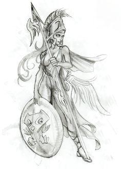 Greek mythology Tattoo, Athena, goddess of planning, wisdom and strength. God Tattoos, Warrior Tattoos, Body Art Tattoos, Sleeve Tattoos, Greek God Tattoo, Greek Goddess Tattoo, Athena Tattoo, Greek Mythology Tattoos, Roman Mythology