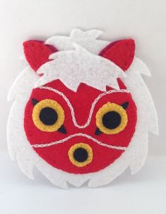 Felt Princess Mononoke San Mask Patch Studio Ghibli by DeliciousStitches89 on Etsy https://www.etsy.com/listing/254393336/felt-princess-mononoke-san-mask-patch