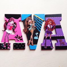 Monster High wall letters