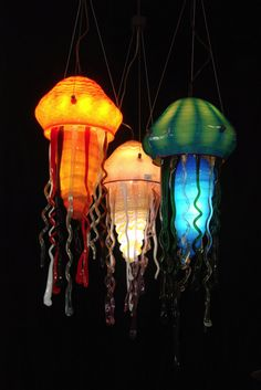 Gl Jellyfish Lamps This Guys Work Is Awesome Wish I Had A Good Place