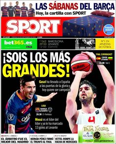 Portada Sport 20/09/2015