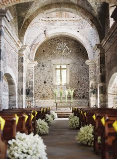 I always said that I would never get married in a church, but this... This is kind of beautiful.