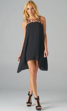 Unbalanced Lasor Cage Dress, $49.00. I found this on www.shoppublik.com