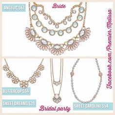 Are you getting married but need some coordinated jewelry for you and your bridal party? Look no further! Send me a message to make a purchase OR schedule a show with me to earn the jewelry for free! Angelic is two necklaces in one and can be reversed for