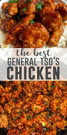 General Chicken Recipe, General Tao Chicken, Chinese Chicken Recipes, Cooked Chicken Recipes, Easy Chinese Recipes, Asian Recipes, Chicken Beast Recipes, General Tso Shrimp, Cooking Recipes