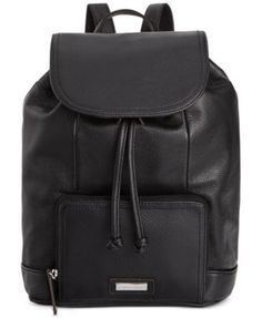 01219a00289 Black Leather Backpack