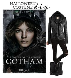 """""""Gotham selina kyle diy costume"""" by starspy ❤ liked on Polyvore featuring Tripp and Naughty Monkey"""