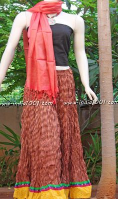 Stunning Cotton long skirt | India1001.com