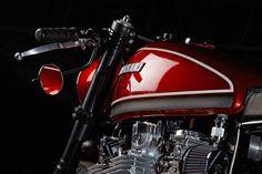 Red Rooster: A Low-Slung Kawasaki Kz1000 by Krakenhead