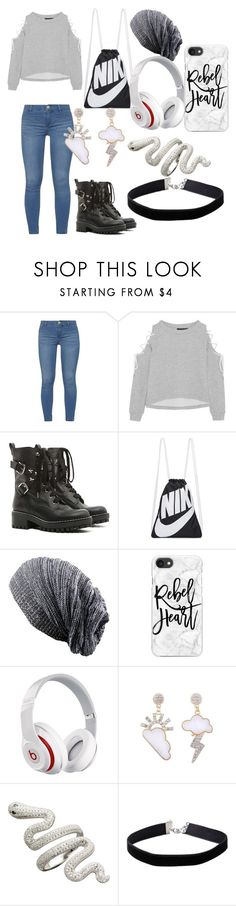 """Bleh"" by supernerdgirl300 on Polyvore featuring Dorothy Perkins, W118 by Walter Baker, RED Valentino, NIKE, Casetify, Beats by Dr. Dre and Miss Selfridge"
